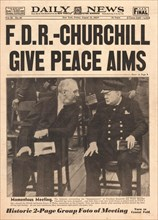 1941 Daily News (New York) front page reporting Winston Churchill and Roosevelt's Atlantic Charter talks