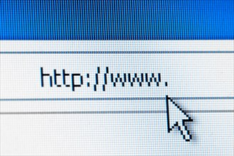 Searching on the internet concept
