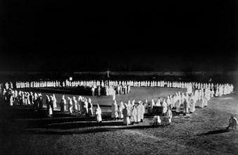 Ku Klux Klan initiation ceremony, Mississippi, c.1923