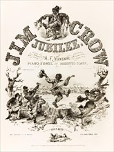 'Jim Crow Jubilee - A Collection of Negro Melodies as sung by A. F. Winnemore and his band of Serenaders, Arranged for the Piano Forte by Augustus Clapp'. See description for more information.