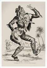 """'Jim Crow' lithograph showing Thomas D. Rice (1832-1860) also known as """"Daddy Rice"""" in character. See description for more information."""