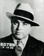 Mugshot of Chicago gangster Al Capone.
