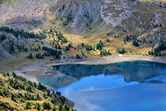 Mountain Lake Lac D Allos, French Alps, France