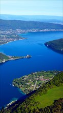 view to Lake Annecy, France, Haute-Savoie