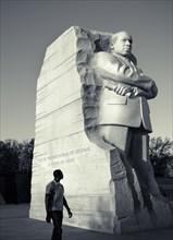 Statue of Reverend Martin Luther King, Jr. National Memorial, Washington D.C. USA.