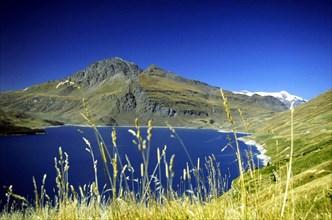 the lac du mont cenis,rhone-alps