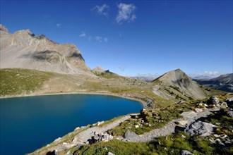 France, Hautes-Alpes, near Ceillac, Lac Sainte-Anne (2415 m), Parc Naturel Regional du Queyras
