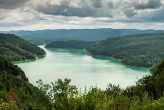 Lake Vouglans, France, Europe.