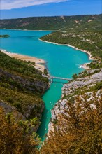 Canyon of Verdon and lake Sainte-Croix - Provence France