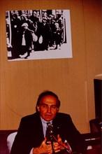 Nazi executioner Klaus Barbie trial, Lyon, france
