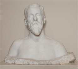 995 Marble Bust of Joseph Pulitzer, Sr. by Auguste Rodin
