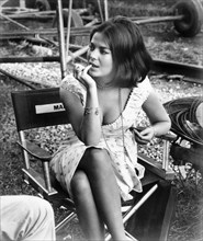 Natalie Wood THIS PROPERTY IS CONDEMNED 1966 on set location candid filming director Sydney Pollack play Tennessee Williams screenplay Francis Ford Coppola  Seven Arts Productions / Paramount Pictures