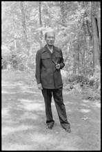 Anwar Sadat poses at Camp David