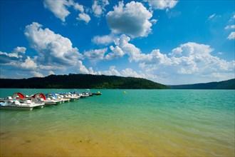 Stunning lac de Vouglans in the Franche Comté region in France