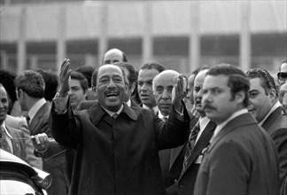 Anouar el-Sadate en visite en France (sous le septennat de Valéry Giscard d'Estaing)