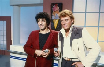 Julien Clerc et Johnny Hallyday, 1983