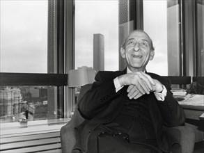 Raymond Aron, vers 1980
