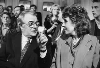 Pierre Mauroy et Edith Cresson, 1986