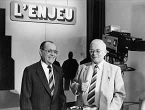 Pierre Bérégovoy et André Bergeron, 1985