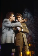 Gilbert Montagné et Bernard Tapie, 1990