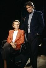 Christine Ockrent et Bernard Tapie, 1990