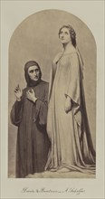 Dante & Beatrice- A. Scheffer; Attributed to Caldesi & Montecchi, British, active 1850s, or Robert Jefferson Bingham, British