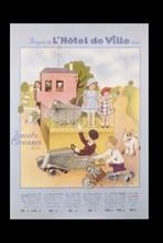 Affiche du Bazar de l'Hôtel de Ville, 1936