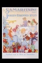 Affiche de Noël de La Samaritaine, 1929