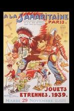 Affiche de Noël de La Samaritaine, 1939