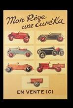 Affiche pour des voitures miniatures de la marque Euréka