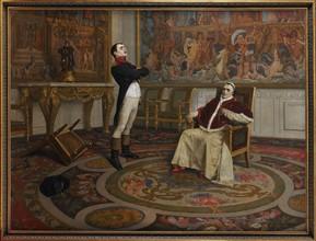 Entrevue de Napoléon 1er et du pape Pie VII