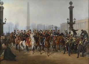 Joncquières, Prince-president Louis Napoleon Bonaparte place de la Concorde in Paris