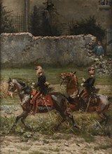 Detaille, French officers d'Auvergne and Leperche, Battle of Rezonville