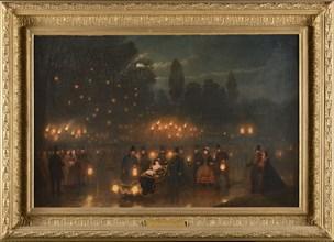 "Edward Matthew Ward, ""Queen Victoria and Emperor Napoleon III visiting the tomb of Emperor Napoleon I"""