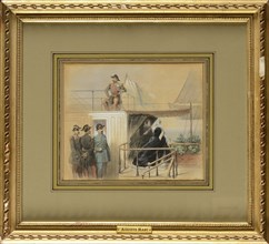 Marc, Emperor Napoleon III and Empress Eugenia on the yacht L'Aigle