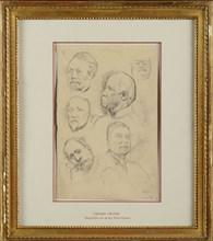 Degas, Napoleon III and Field-Marshalls Canrobert, Niel, Bazaine and Mac-Mahon