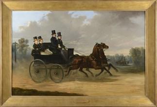 De Luna, Emperor Napoleon III driving his horse carriage in company of Duc de Morny