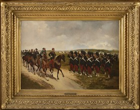 """G. L Hyon, """"Emperor Napoleon III and King Vittorio Emanuele II reviewing the Imperial Guard"""""""