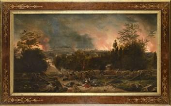Philippoteaux, Paris en feu sous la Commune, vue depuis le Père Lachaise