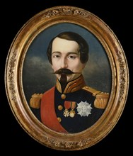 French Emperor Napoleon III in the uniform of a general