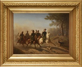 Humbert, French officers riding