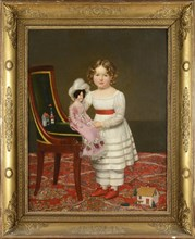 Riesener, Portrait of a youg girl with a doll and toys