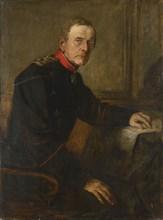 Lenbach, Portrait of Moltke at his desk