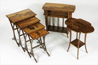 Tables d'Emile Gallé