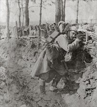 Raymond Charuel In A Trench, April 1917
