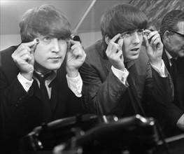 Les Beatles sur le tournage du film A Hard Day's Night