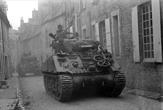 Troupes britanniques en Normandie, en juillet 1944