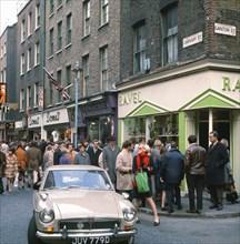 Carnaby Street, Londres, novembre 1968