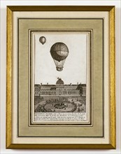 "Charles and Robert's balloon experiment in the Jardin des ""Thuilleries"" on 1st December 1783"