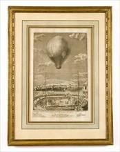 Expérience aérostatique faite aux Brotteaux à Lyon le 19 janvier 1784
